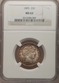 Barber Quarters: , 1895 25C MS63 NGC. NGC Census: (34/72). PCGS Population (40/75).Mintage: 4,440,880. Numismedia Wsl. Price for problem free...