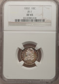 Bust Dimes: , 1832 10C XF45 NGC. JR-1. NGC Census: (6/230). PCGS Population(24/221). Mintage: 522,500. Numismedia Wsl. Price for problem...