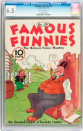 Platinum Age (1897-1937):Miscellaneous, Famous Funnies #24 (Eastern Color, 1936) CGC FN+ 6.5 Off-whitepages....