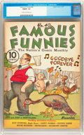 Platinum Age (1897-1937):Miscellaneous, Famous Funnies #40 (Eastern Color, 1937) CGC FN/VF 7.0 Cream tooff-white pages....