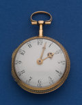 Timepieces:Pocket (pre 1900) , DeBon Parris 18k Gold 37 mm Verge Fusee Pocket Watch. ...