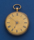 Timepieces:Pocket (pre 1900) , William McFerran Manchester 42 mm 18k Gold Lever Fusee Pocket Watch. ...