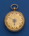 Timepieces:Pocket (pre 1900) , R. Salsbury 37 mm 18k Gold Lever Fusee Pocket Watch. ...