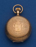 Timepieces:Pocket (pre 1900) , Swiss 14k Gold 6 Size Hunter's Case Pocket Watch. ...