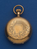 Timepieces:Pocket (post 1900), Elgin 14k Gold 6 Size Hunter's Case Pocket Watch. ...