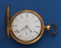 Timepieces:Pocket (pre 1900) , E.D. Johnson London 55 mm Gold Fusee Pocket Watch. ...