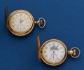 Timepieces:Pocket (post 1900), Two Waltham Fancy Dials 6 Size Hunter's Cases Pocket Watches. ...(Total: 2 Items)