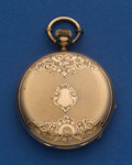 Timepieces:Pocket (pre 1900) , Ducommun (Swiss) Unmarked Gold 41 mm Key Wind Pocket Watch. ...