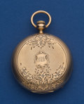 Timepieces:Pocket (post 1900), Swiss 10k Rose Gold 44 mm Key Wind Pocket Watch. ...