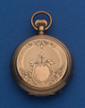 Timepieces:Pocket (pre 1900) , Elgin 10 Size 10k Gold Gail Borden Key Wind Pocket Watch. ...
