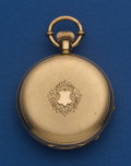 Timepieces:Pocket (post 1900), Illinois 10 Size Pocket Watch In A 18k Gold Swiss 43 mm Hunter'sCase. ...