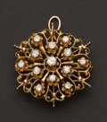 Estate Jewelry:Brooches - Pins, Brooch 14k Yellow Gold With Diamonds. ...