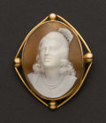 Estate Jewelry:Cameos, Signed Gold & Shell Cameo. ...