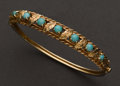 Estate Jewelry:Bracelets, Turquoise & Gold Bracelet. ...