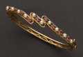 Estate Jewelry:Bracelets, Ruby, Pearl & Gold Bracelet. ...