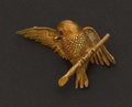 Estate Jewelry:Brooches - Pins, Gold & Ruby Bird Pin. ...