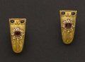 Estate Jewelry:Earrings, Ruby, Diamond & Sapphire Earrings. ...