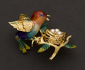 Estate Jewelry:Brooches - Pins, Enamel, Pearl & 18k Gold Pin. ...