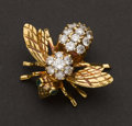Estate Jewelry:Brooches - Pins, Diamond & Gold Bee Pin. ...