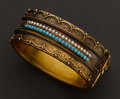 Estate Jewelry:Bracelets, Victorian Gold, Pearl & Turquoise Bracelet. ...