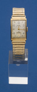 Timepieces:Wristwatch, Lord Elgin 14k Gold Rectangular Wristwatch. ...
