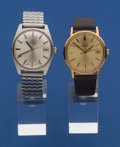 Timepieces:Wristwatch, Two Omegas Automatic Wristwatches Runners. ... (Total: 2 Items)