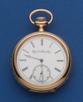 Timepieces:Pocket (post 1900), Elgin 15 Jewel Convertible Heavy 16 Size 14k Gold Case PocketWatch. ...