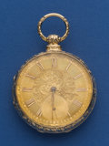 Timepieces:Pocket (pre 1900) , Joseph Johnson 18k Gold Lever Fusee. ...