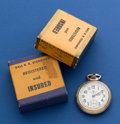 Timepieces:Pocket (post 1900), Ball 21 Jewel 999 B Pocket Watch With Original Box. ...