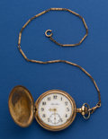 Timepieces:Pocket (post 1900), Hamilton 16 Size Rare Fancy Dial Pocket Watch. ...