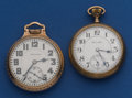 Timepieces:Pocket (post 1900), Two Hamilton's 992 Pocket Watches With Worn Cases Runners. ...(Total: 2 Items)