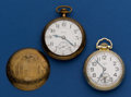 Timepieces:Pocket (post 1900), Elgin 19 Jewel 18 Size B.W. Raymond & A 21 Jewel 16 Size Father Time Pocket Watches Runners. ... (Total: 2 Items)