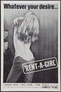 "Movie Posters:Sexploitation, Rent-A-Girl (Cambist Films, 1965). One Sheet (27"" X 41"").Sexploitation.. ..."