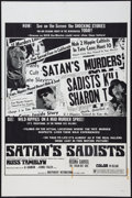 "Movie Posters:Exploitation, Satan's Sadists (Independent International Pictures, 1969). One Sheet (27"" X 41""). Exploitation.. ..."