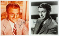 Movie/TV Memorabilia:Autographs and Signed Items, James Stewart and James Cagney Signed Photos.... (Total: 2 )