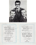 Music Memorabilia:Autographs and Signed Items, Buddy Holly & The Crickets Band-Signed Program Book....