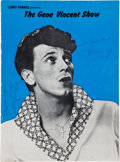 Music Memorabilia:Memorabilia, Gene Vincent and Others Signed Program Book....