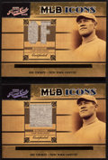 """Baseball Cards:Singles (1970-Now), 2005 Playoff Prime Cuts """"MLB Icons"""" Jim Thorpe Baseball Jersey Swatch Card Pair (2). ..."""