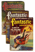 Pulps:Science Fiction, Fantastic Adventures Group (Ziff-Davis, 1941-42) Condition: AverageGD+.... (Total: 3 Comic Books)