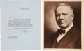 Movie/TV Memorabilia:Autographs and Signed Items, W.C. Fields Signed Letter from 1946 with Photo.... (Total: 2 Items)