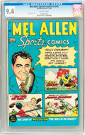 Golden Age (1938-1955):Non-Fiction, Mel Allen Sports Comics #5 (#1) (Standard, 1949) CGC NM 9.4Off-white pages....
