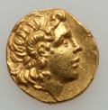 Ancients:Greek, Ancients: KINGDOM OF THRACE. Lysimachus (306-281 BC). AV stater(8.44 gm). ...