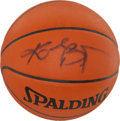 Basketball Collectibles:Balls, Kobe Bryant Signed Leather Game Ball. ...