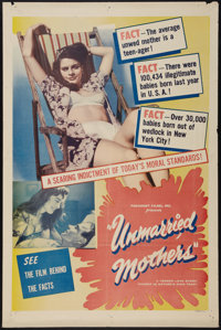 "Unmarried Mothers (President Films, 1956). One Sheet (27"" X 41""). Exploitation"