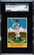 Baseball Cards:Singles (1930-1939), 1933 Delong Lou Gehrig #7 SGC 88 NM/MT 8 - Pop Two, Only OneHigher! ...
