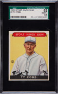 Baseball Cards:Singles (Pre-1930), 1933 Sport Kings Gum #1 SGC 92 NM/MT+ 8.5 - Highest SGC Grade! ...