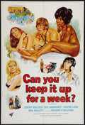 """Movie Posters:Sexploitation, Can You Keep it Up For a Week? And Other Lot (Euro-London Films,1975). One Sheets (2) (27"""" X 41""""). Sexploitation.. ... (Total: 2Items)"""