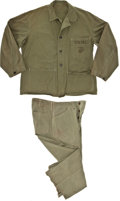 """Movie/TV Memorabilia:Costumes, A Costume from """"Sands of Iwo Jima.""""... (Total: 2 Items)"""