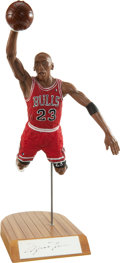 """Basketball Collectibles:Others, Michael Jordan Signed """"Upper Deck"""" Figurine...."""