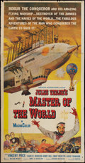 """Movie Posters:Science Fiction, Master of the World (American International, 1961). Three Sheet (41"""" X 81""""). Science Fiction.. ..."""